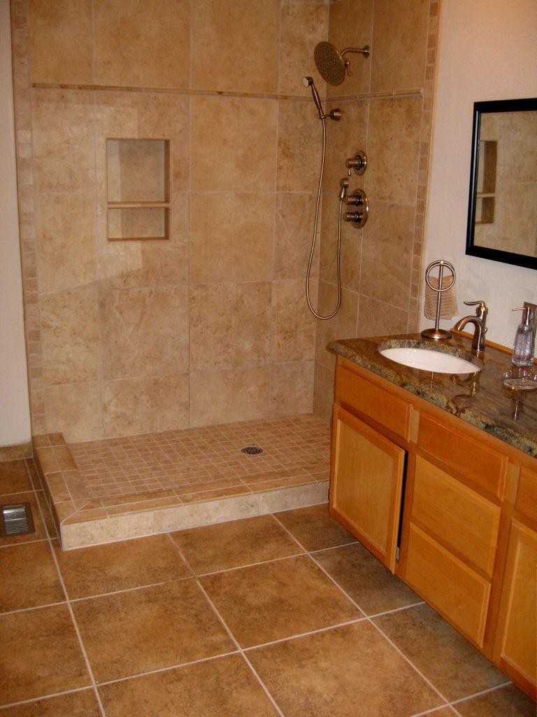 Ceramic tile shower base